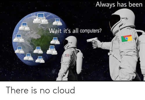 there is: There is no cloud