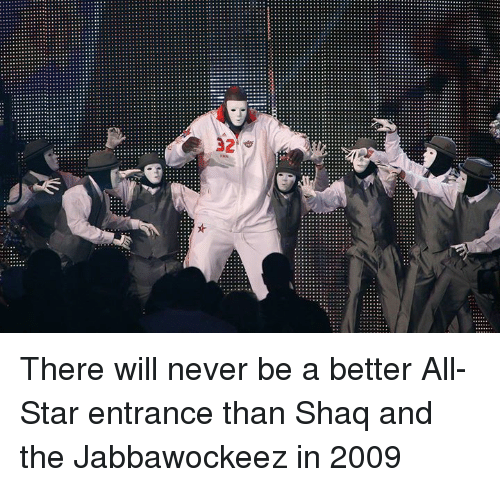 Shaq: There will never be a better All-Star entrance than Shaq and the Jabbawockeez in 2009