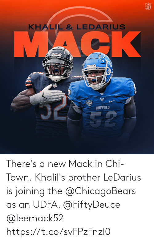 chicagobears: There's a new Mack in Chi-Town.  Khalil's brother LeDarius is joining the @ChicagoBears as an UDFA. @FiftyDeuce @leemack52 https://t.co/svFPzFnzl0