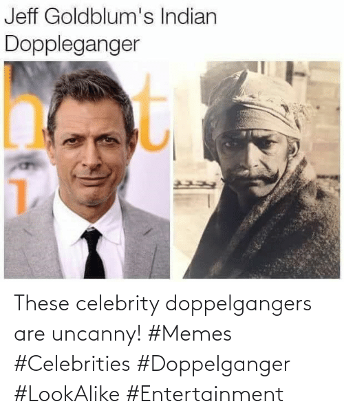 celebrity: These celebrity doppelgangers are uncanny! #Memes #Celebrities #Doppelganger #LookAlike #Entertainment