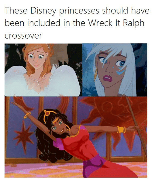 Disney, Memes, and Been: These Disney princesses should have  been included in the Wreck It Ralph  Crossover