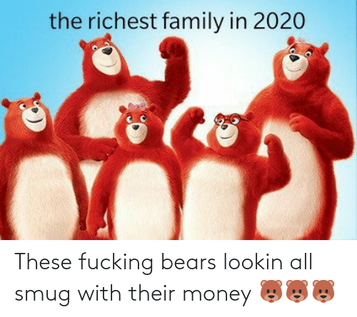 Bears: These fucking bears lookin all smug with their money 🐻🐻🐻