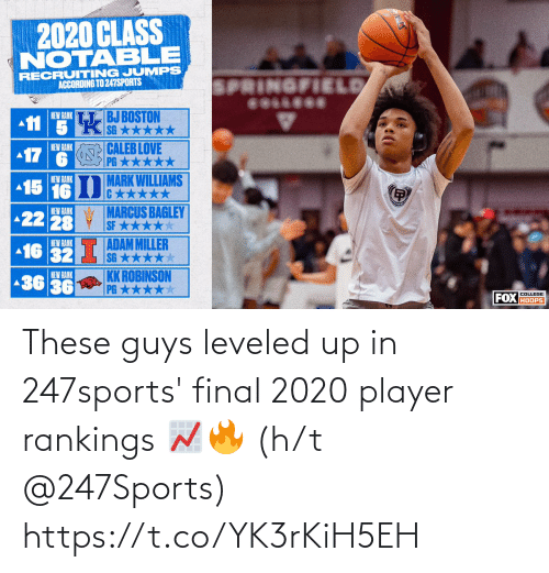 H: These guys leveled up in 247sports' final 2020 player rankings 📈🔥  (h/t @247Sports) https://t.co/YK3rKiH5EH