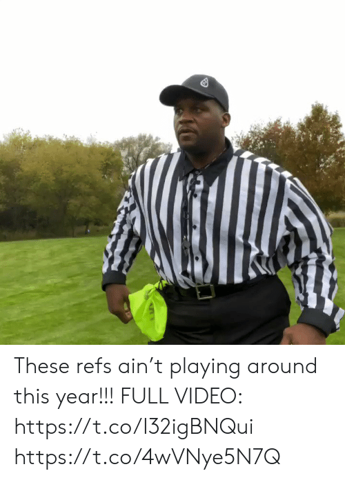 Memes, Video, and 🤖: These refs ain't playing around this year!!! FULL VIDEO: https://t.co/I32igBNQui https://t.co/4wVNye5N7Q