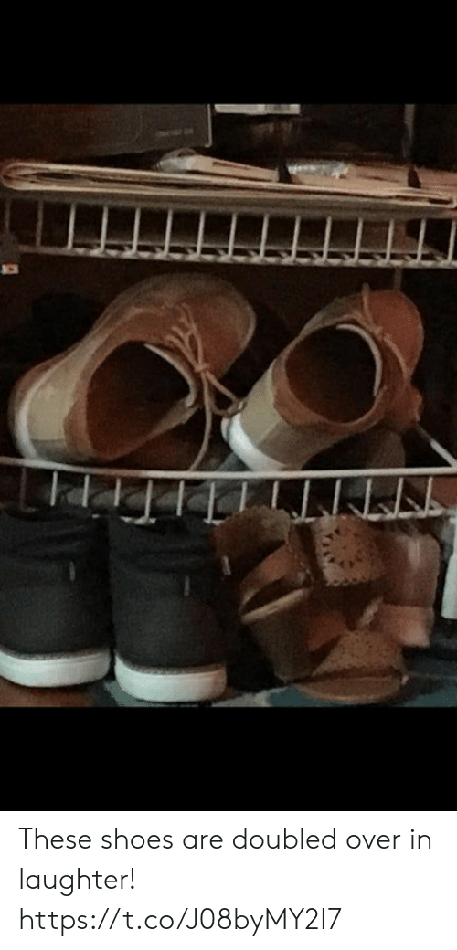 Shoes, Laughter, and Faces-In-Things: These shoes are doubled over in laughter! https://t.co/J08byMY2I7