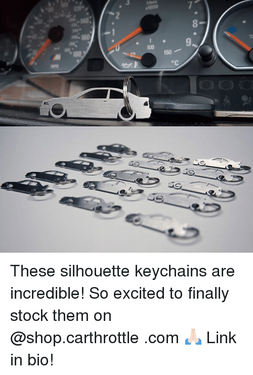 Silhouette: These silhouette keychains are incredible! So excited to finally stock them on @shop.carthrottle .com 🙏🏻 Link in bio!
