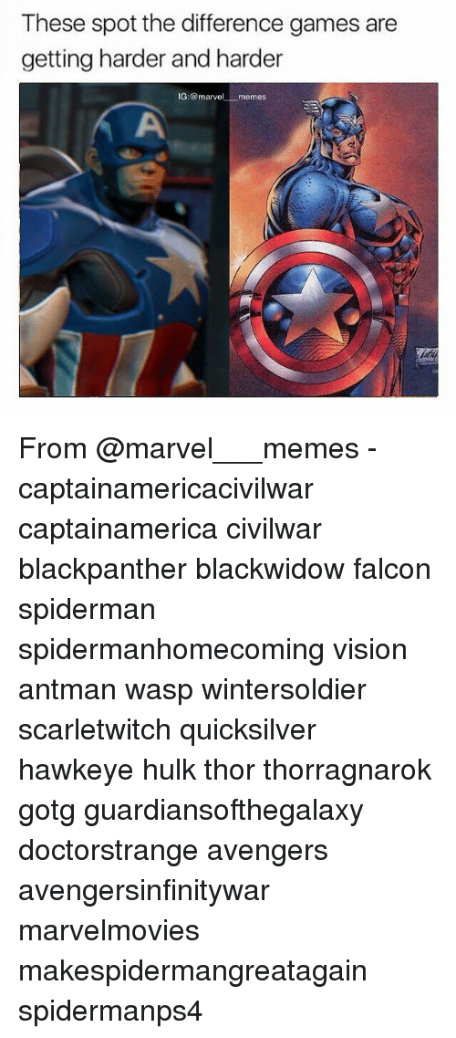 Memes, Hulk, and Vision: These spot the difference games are  getting harder and harder  G: marvel  .memes From @marvel___memes - captainamericacivilwar captainamerica civilwar blackpanther blackwidow falcon spiderman spidermanhomecoming vision antman wasp wintersoldier scarletwitch quicksilver hawkeye hulk thor thorragnarok gotg guardiansofthegalaxy doctorstrange avengers avengersinfinitywar marvelmovies makespidermangreatagain spidermanps4