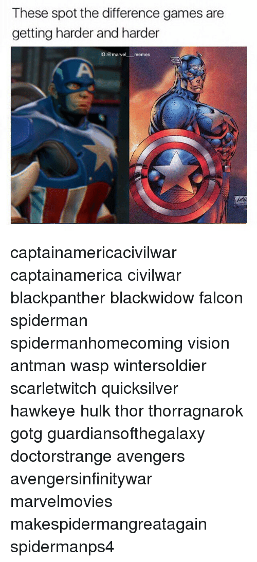 Memes, Hulk, and Vision: These spot the difference games are  getting harder and harder  IG: @marvel memes captainamericacivilwar captainamerica civilwar blackpanther blackwidow falcon spiderman spidermanhomecoming vision antman wasp wintersoldier scarletwitch quicksilver hawkeye hulk thor thorragnarok gotg guardiansofthegalaxy doctorstrange avengers avengersinfinitywar marvelmovies makespidermangreatagain spidermanps4