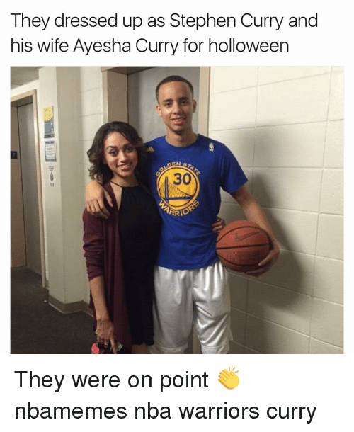 Ayesha Curry: They dressed up as Stephen Curry and  his wife Ayesha Curry for holloween  DEN  S  ARRIO They were on point 👏 nbamemes nba warriors curry