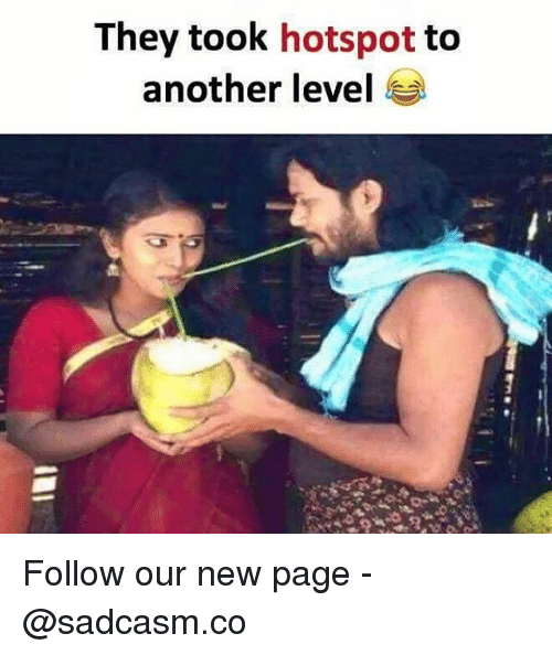 Memes, 🤖, and Page: They took hotspot to  another level Follow our new page - @sadcasm.co