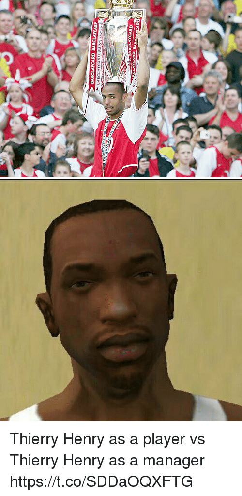 Memes, Thierry Henry, and 🤖: Thierry Henry as a player vs Thierry Henry as a manager https://t.co/SDDaOQXFTG