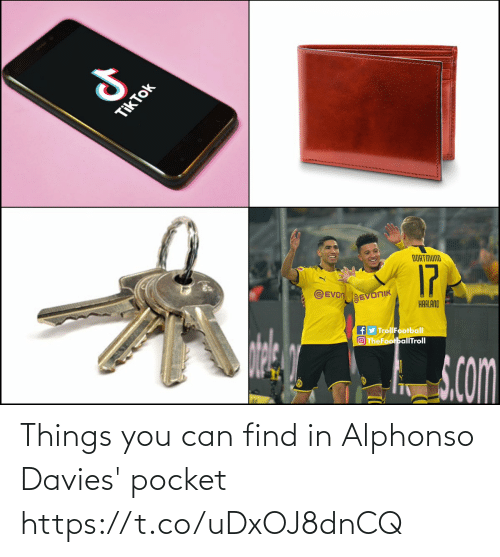 You Can: Things you can find in Alphonso Davies' pocket https://t.co/uDxOJ8dnCQ