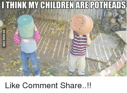 Children, Memes, and 🤖: THINK MY CHILDREN ARE POTHEADS Like Comment Share..!!