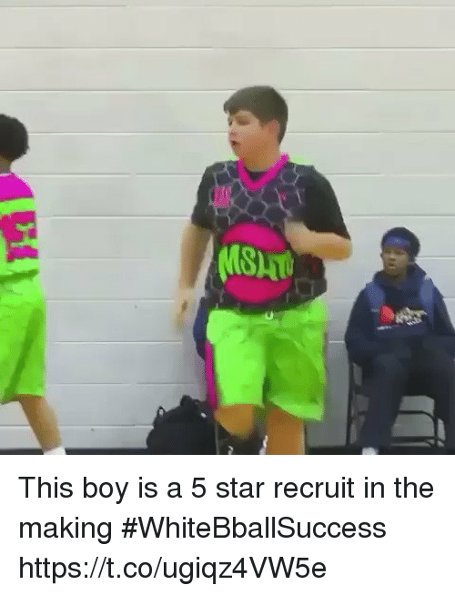Basketball, White People, and Star: This boy is a 5 star recruit in the making #WhiteBballSuccess https://t.co/ugiqz4VW5e