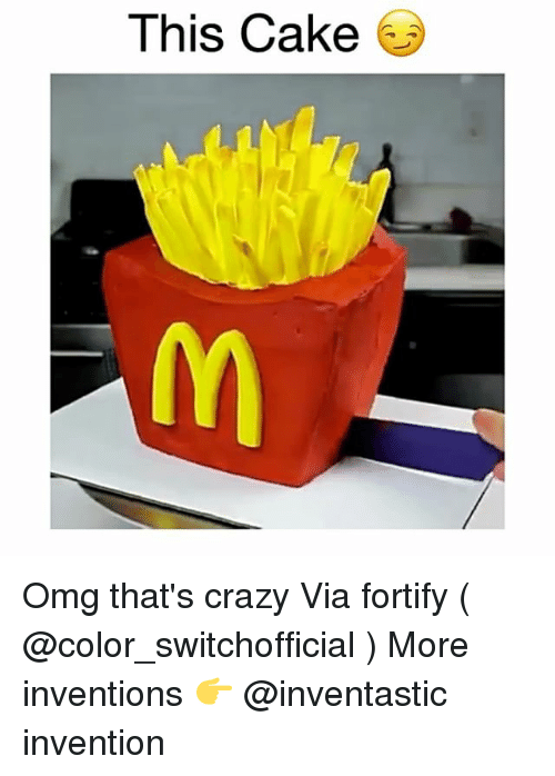 inventions: This Cake 6 Omg that's crazy Via fortify ( @color_switchofficial ) More inventions 👉 @inventastic invention