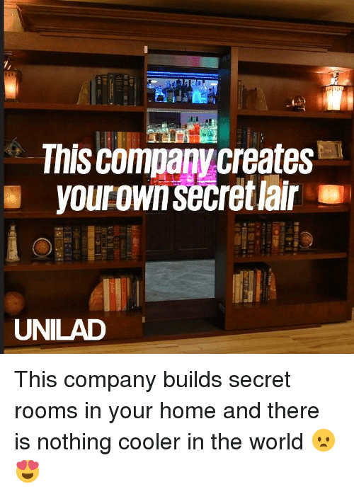 Dank, Home, and World: This company creates  UNILAD This company builds secret rooms in your home and there is nothing cooler in the world 😦😍