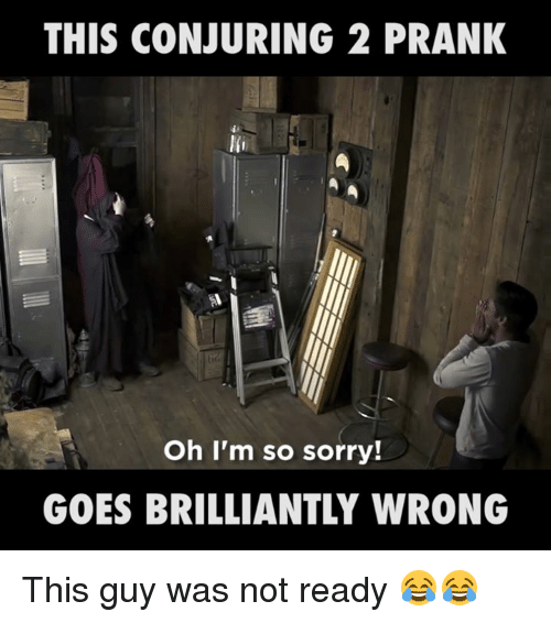 Conjuring 2: THIS CONJURING 2 PRANK  Oh I'm so sorry!  GOES BRILLIANTLY WRONG This guy was not ready 😂😂