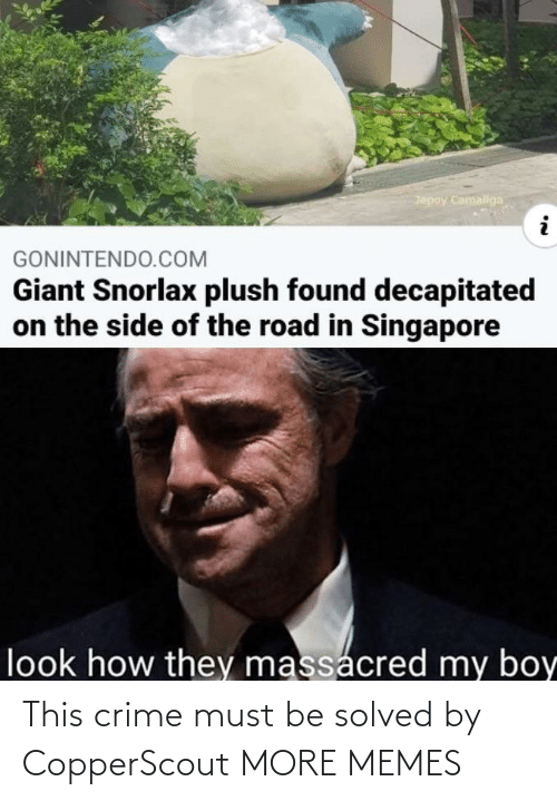 Solved: This crime must be solved by CopperScout MORE MEMES