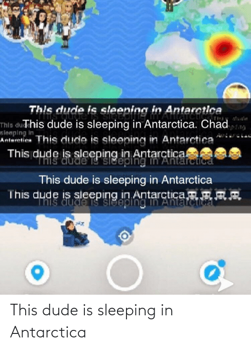 Antarctica: This dude is sleeping in Antarctica