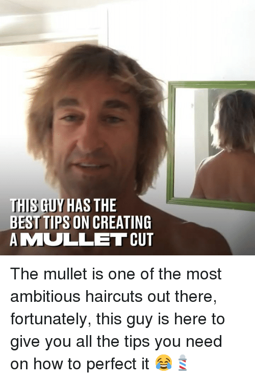 Dank, Best, and Haircuts: THIS GUY HAS THE  BEST TIPS ON CREATING  AMULLET CUT The mullet is one of the most ambitious haircuts out there, fortunately, this guy is here to give you all the tips you need on how to perfect it 😂💈