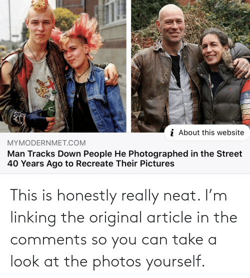 linking: This is honestly really neat. I'm linking the original article in the comments so you can take a look at the photos yourself.