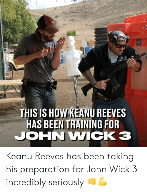 Dank, John Wick, and Been: THIS IS HOW KEANU REEVES  HAS BEEN TRAINING FOR  JOHN WICK Keanu Reeves has been taking his preparation for John Wick 3 incredibly seriously 👊💪