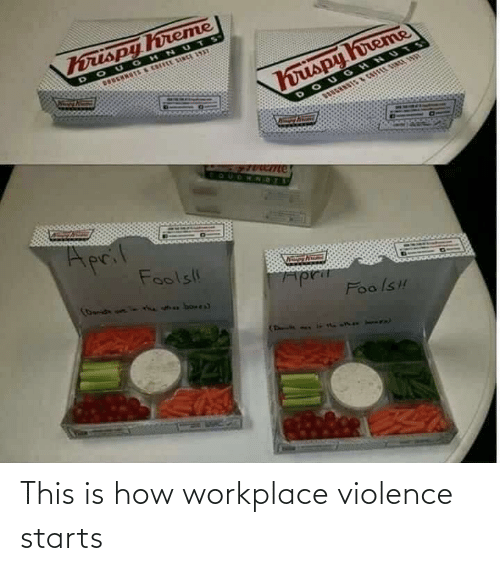 Starts: This is how workplace violence starts