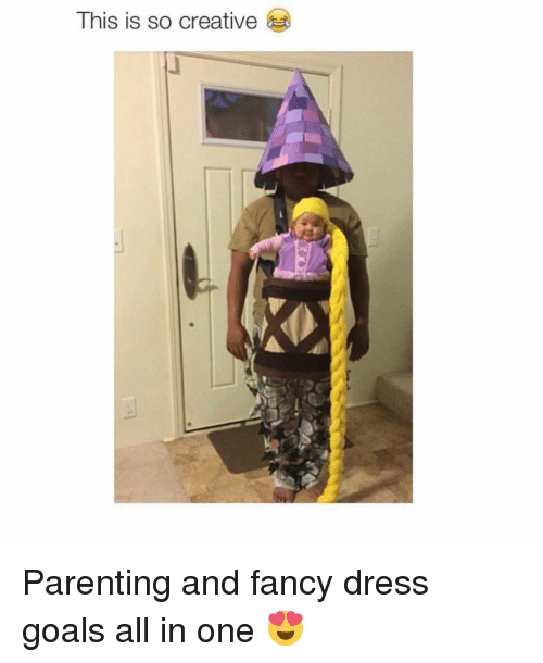 fanciness: This is so creative Parenting and fancy dress goals all in one 😍