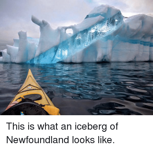 newfoundland: This is what an iceberg of Newfoundland looks like.