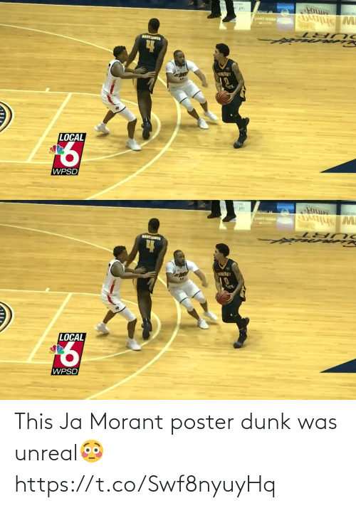 Dunk: This Ja Morant poster dunk was unreal😳 https://t.co/Swf8nyuyHq