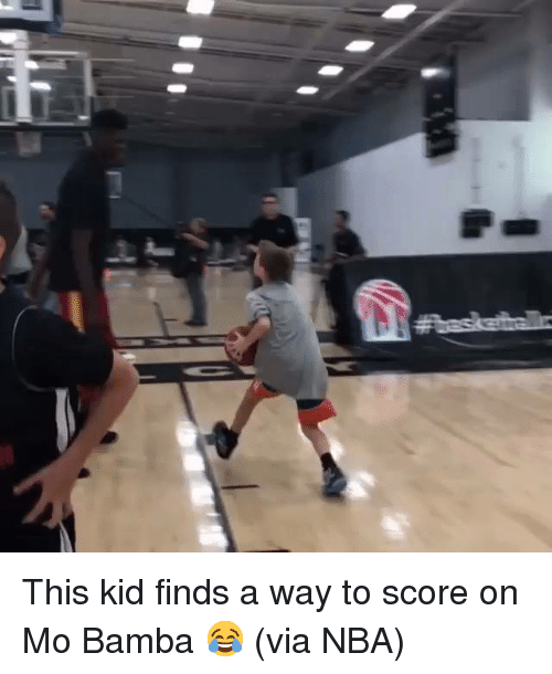 Nba, Via, and Score: This kid finds a way to score on Mo Bamba 😂 (via NBA)