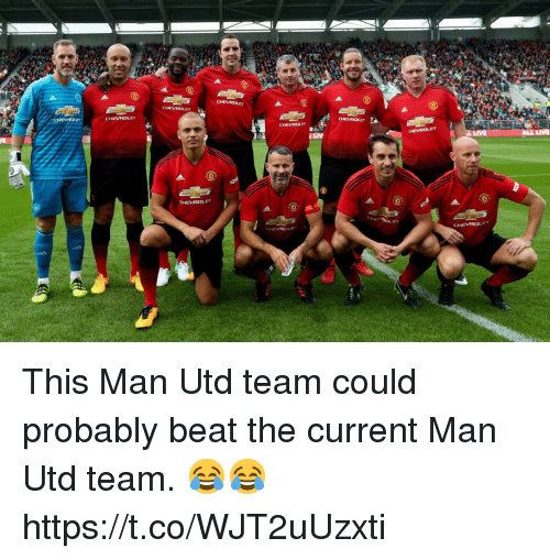 Soccer, Man Utd, and Team: This Man Utd team could probably beat the current Man Utd team. 😂😂 https://t.co/WJT2uUzxti