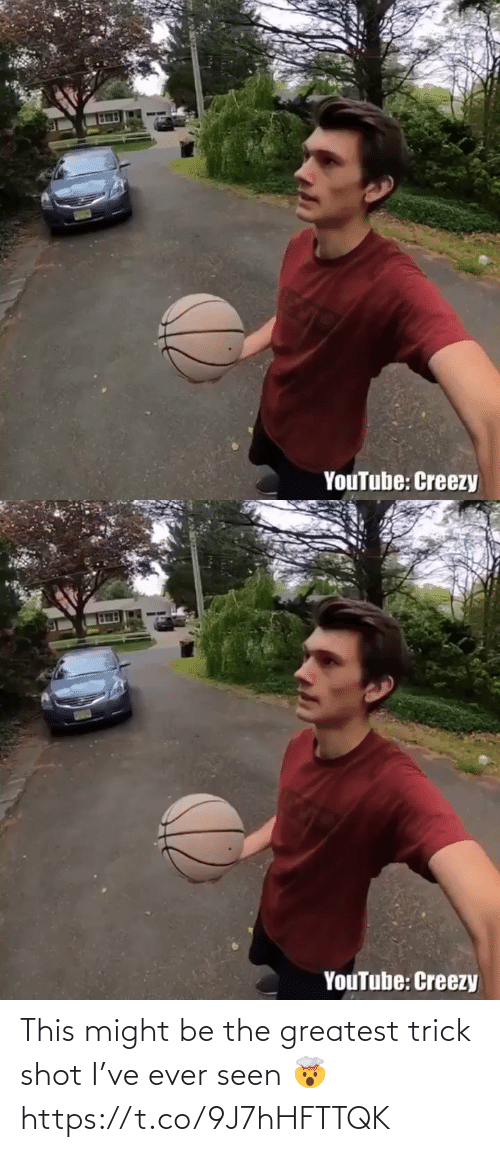 Trick: This might be the greatest trick shot I've ever seen 🤯 https://t.co/9J7hHFTTQK