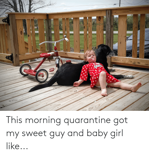 this morning: This morning quarantine got my sweet guy and baby girl like...