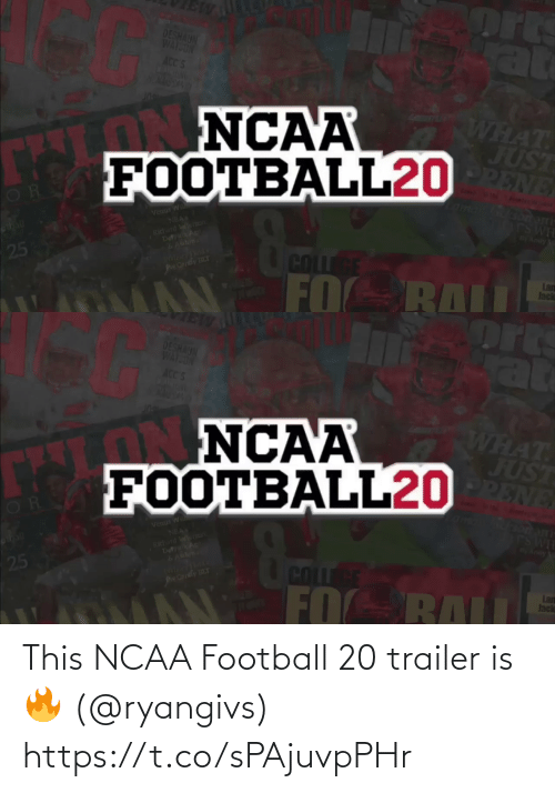 NFL: This NCAA Football 20 trailer is 🔥 (@ryangivs) https://t.co/sPAjuvpPHr