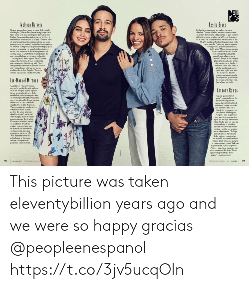 picture: This picture was taken eleventybillion years ago and we were so happy gracias @peopleenespanol https://t.co/3jv5ucqOIn