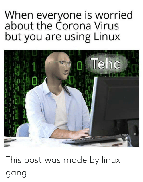 This Post: This post was made by linux gang
