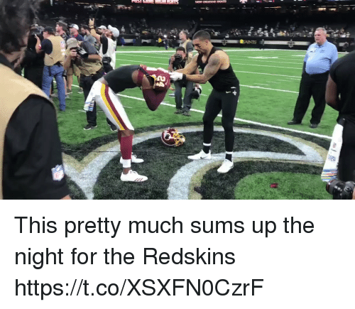 Sizzle: This pretty much sums up the night for the Redskins https://t.co/XSXFN0CzrF