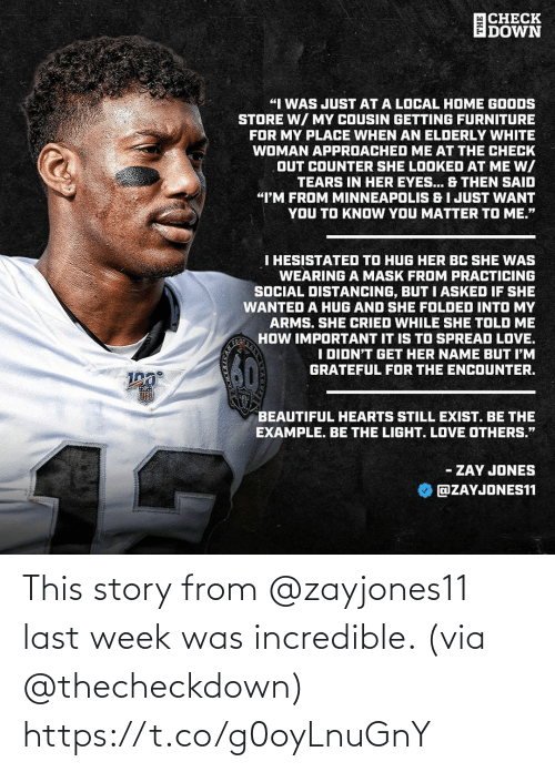 story: This story from @zayjones11 last week was incredible. (via @thecheckdown) https://t.co/g0oyLnuGnY