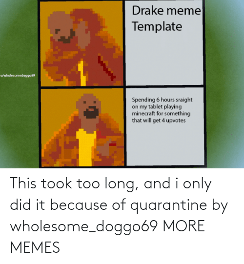 Long: This took too long, and i only did it because of quarantine by wholesome_doggo69 MORE MEMES