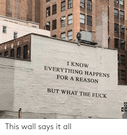 wall: This wall says it all