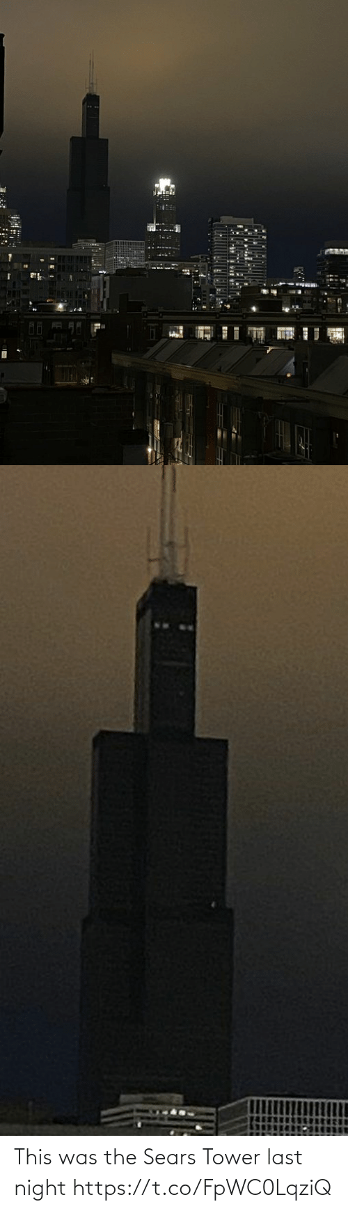 Faces-in-Things: This was the Sears Tower last night https://t.co/FpWC0LqziQ