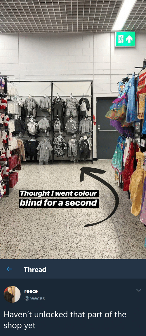 Havent: Thought I went colour  blind for a second   ← Thread  reece  @reeces  Haven't unlocked that part of the  shop yet