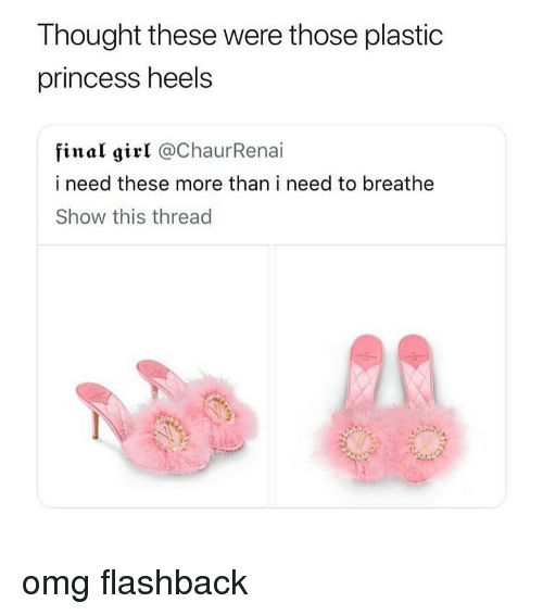 heels: Thought these were those plastic  princess heels  final girl @ChaurRenai  i need these more than i need to breathe  Show this thread omg flashback