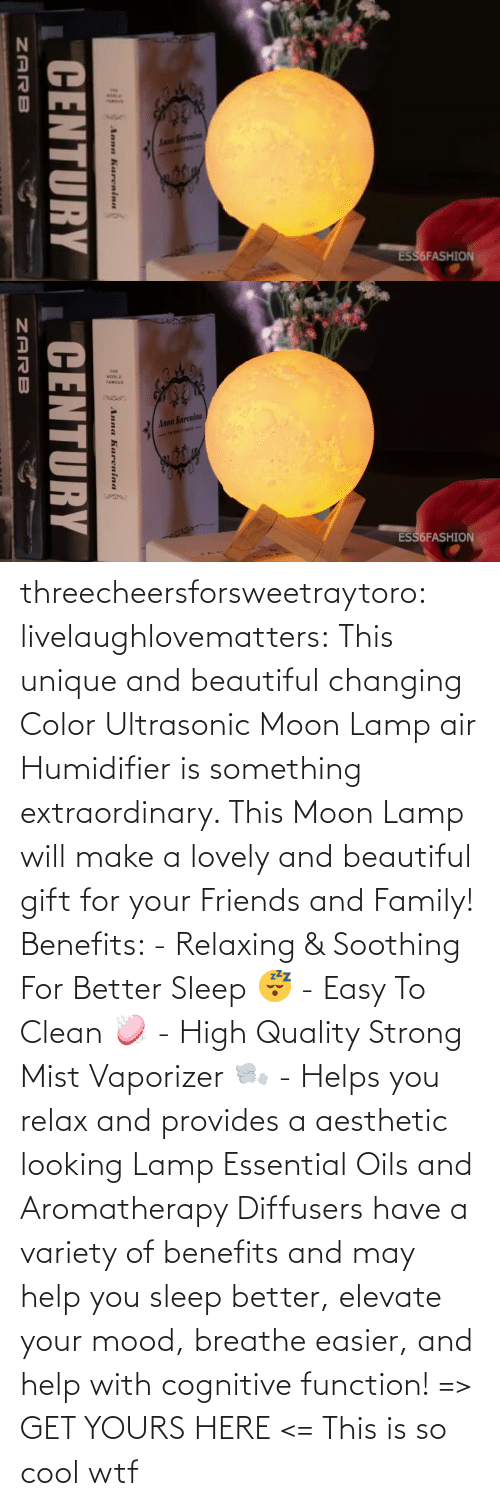 may: threecheersforsweetraytoro: livelaughlovematters:   This unique and beautiful changing Color Ultrasonic Moon Lamp air Humidifier is something extraordinary. This Moon Lamp will make a lovely and beautiful gift for your Friends and Family! Benefits:  - Relaxing & Soothing For Better Sleep 😴 - Easy To Clean 🧼 - High Quality Strong Mist Vaporizer 🌬️ - Helps you relax and provides a aesthetic looking Lamp Essential Oils and Aromatherapy Diffusers have a variety of benefits and may help you sleep better, elevate your mood, breathe easier, and help with cognitive function! => GET YOURS HERE <=    This is so cool wtf