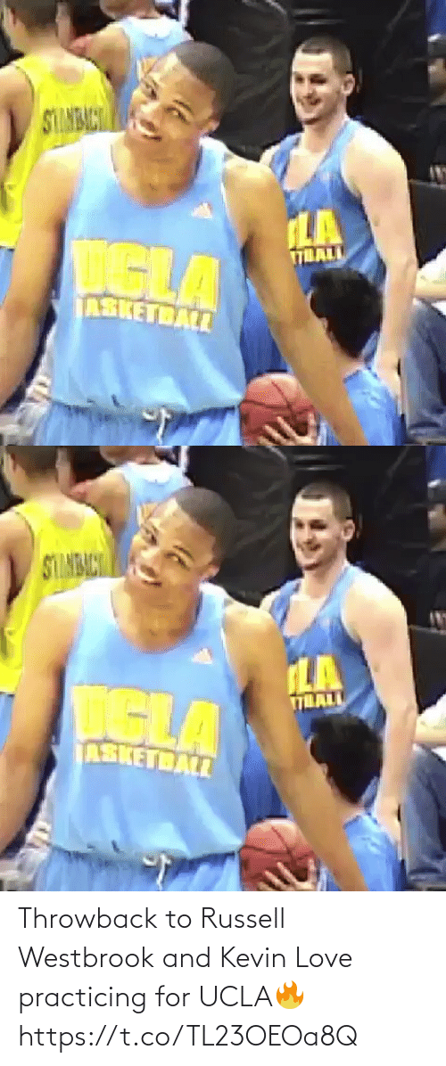 throwback: Throwback to Russell Westbrook and Kevin Love practicing for UCLA🔥 https://t.co/TL23OEOa8Q