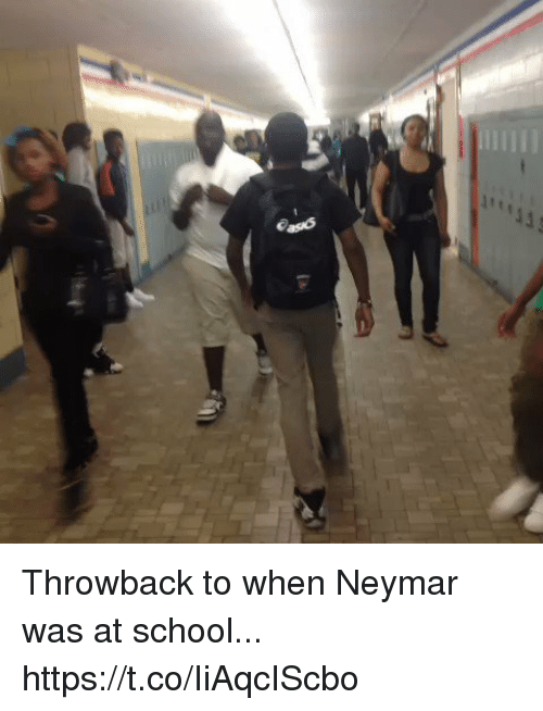 Neymar, School, and Soccer: Throwback to when Neymar was at school... https://t.co/IiAqcIScbo