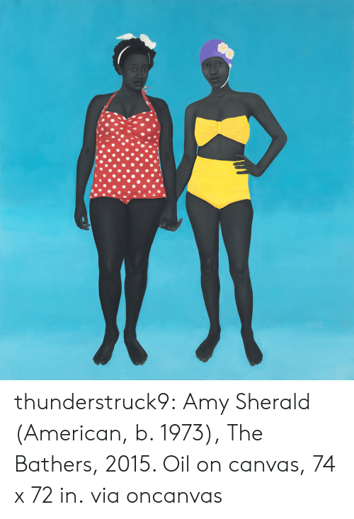 Canvas: thunderstruck9: Amy Sherald (American, b. 1973), The Bathers, 2015. Oil on canvas, 74 x 72 in. via oncanvas