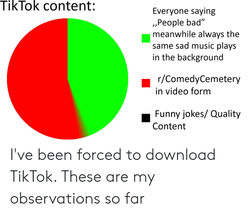 Tiktok Content Everyone Saying People Bad Meanwhile Always
