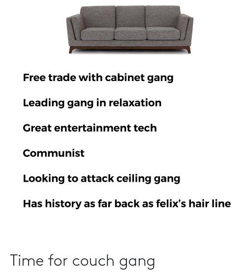 Couch: Time for couch gang